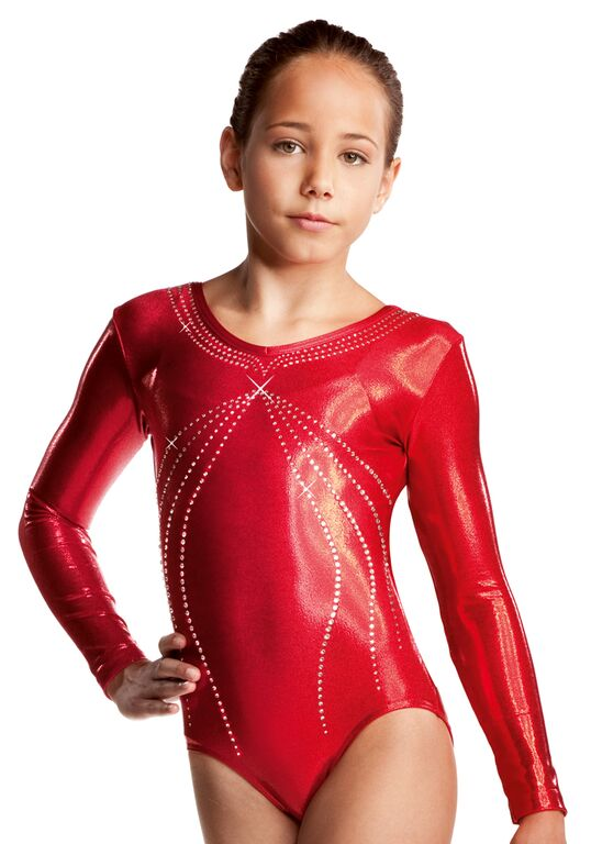 Ruby Ervy Turnpak Leotard LS rood - kids