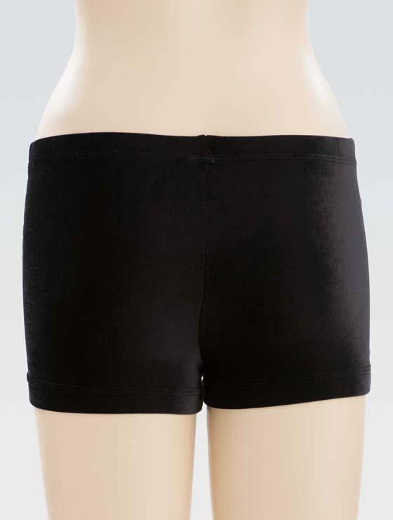 GK - Short velours zwart/strass - 1450